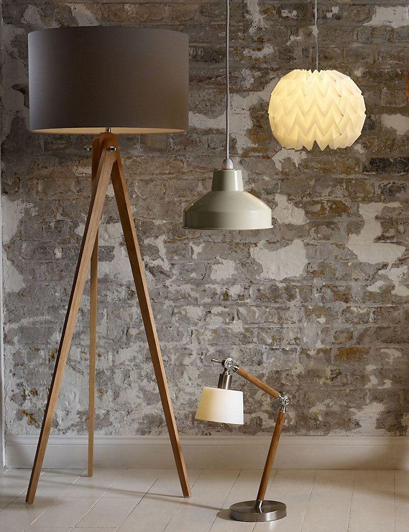 Modern Tripod Floor Lamp | M&S | wooden furnture | Modern floor ...