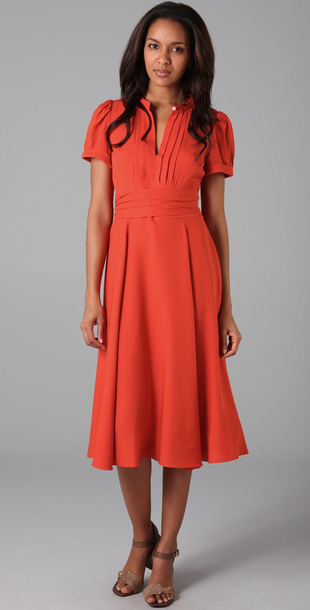 8e444f28f0de Marc By Marc Jacobs Silk Crepe  Mimi  Short Sleeve Dress
