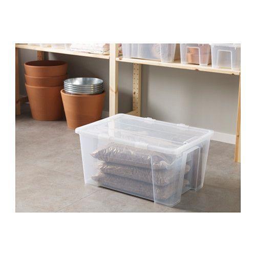 Samla Box With Lid 22 ½x15 ¼x11 12 Gallon Ikea Storage Bins