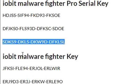 iobit malware fighter 6.6.1 key