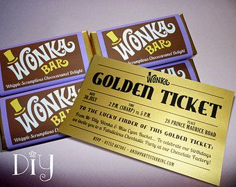 Personalized Name Wonka Bar Wrappers Wonka Bar By