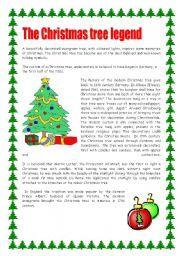 Christmas Pickle Story Printable | English teaching worksheets ...