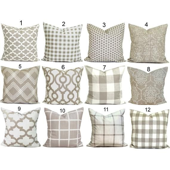 Pillow Covers. Decorative Pillow Covers, Throw Pillow Cover, All Sizes Incl. Euro Sham, Tan Pillow,