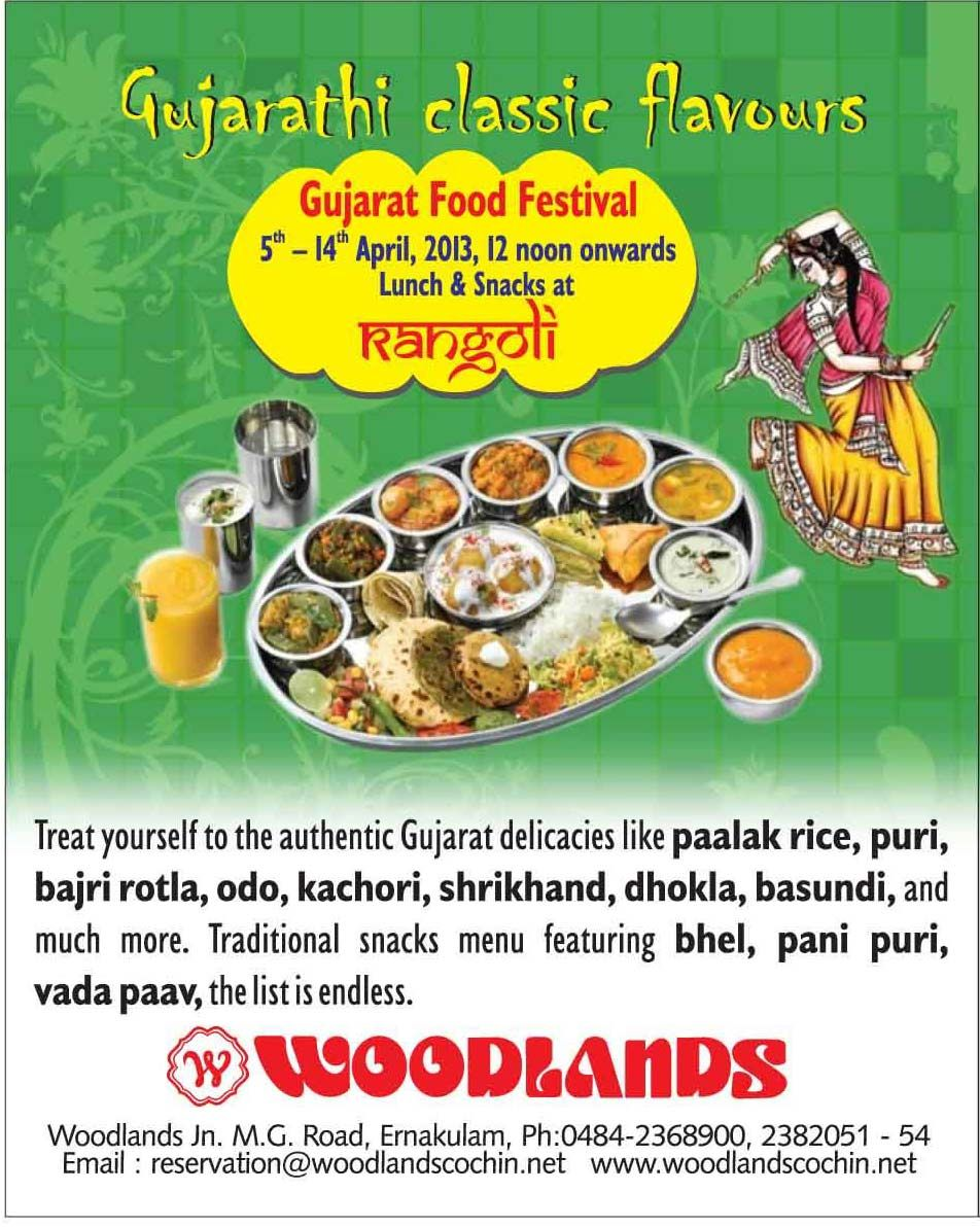 Gujarat Food Festival At Rangoli Restaurant Woodlands Hotel Cochin Treat Yourself To The Authentic