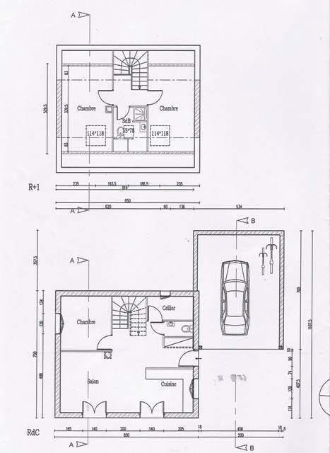 Plan de masse de permis de construire Maisons individuelles