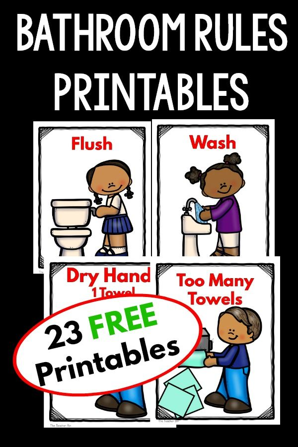 Bathroom Worksheets For Kindergarten