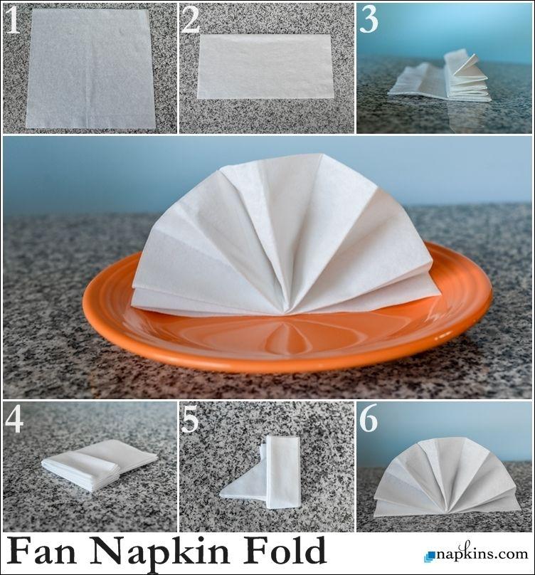Standing Fan Napkin Fold Easy Folding