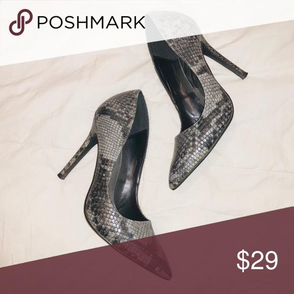 SALE💥Gray Snakeskin Heels | Snakeskin