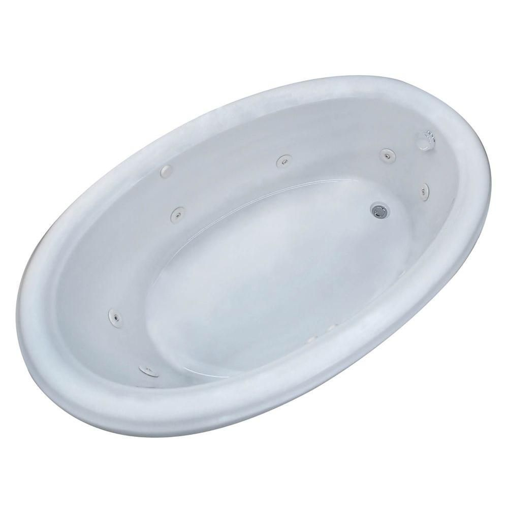Universal Tubs Topaz 6.5 ft. Rectangular Drop-in Whirlpool Bathtub ...