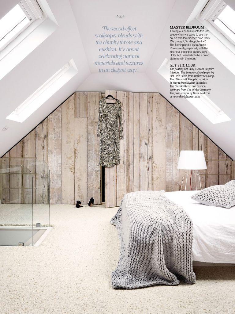 Loft space bedroom ideas  idee voor een zolder  Moodboard Magali  Pinterest  Wallpaper