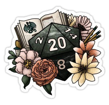 'Dungeon Master D20 - Tabletop Gaming Dice' Sticker by Kiel Chenier