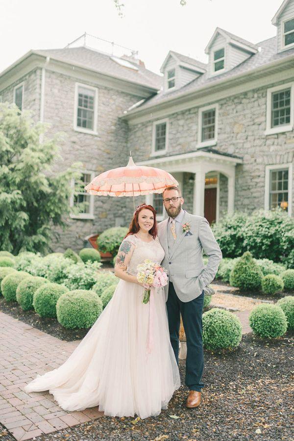 Romantic Vintage Inspired Wedding in Maryland Ruffled