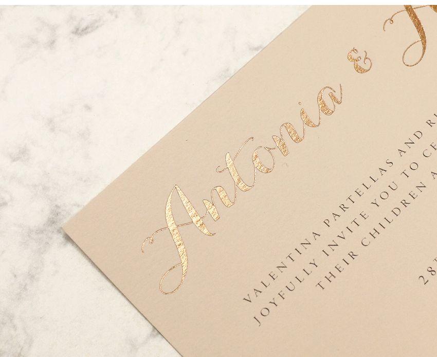 Gorgeous Rose gold foiling onto Colorplan Vellum #Weddingstationery #foil #rosegold
