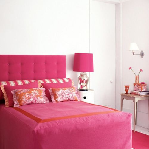 Vibrant Pink  Orange - Orange Bedrooms