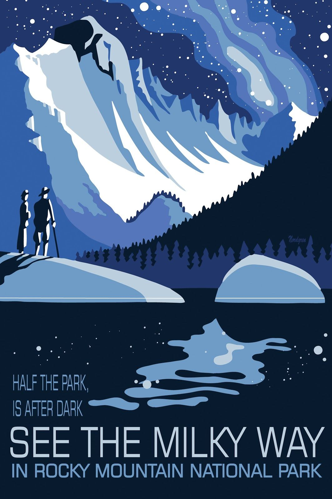 Rocky Mountain National Park See the Milky Way WPA Poster