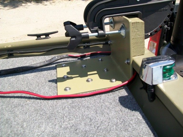 Jon boat trolling motor mount image boat pinterest for Mounting a transom mount trolling motor on the bow