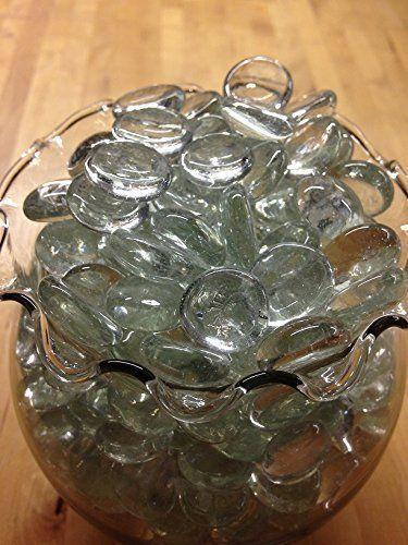 Amazon Dashington Flat Clear Marbles Pebbles 5 Pound Bag80oz