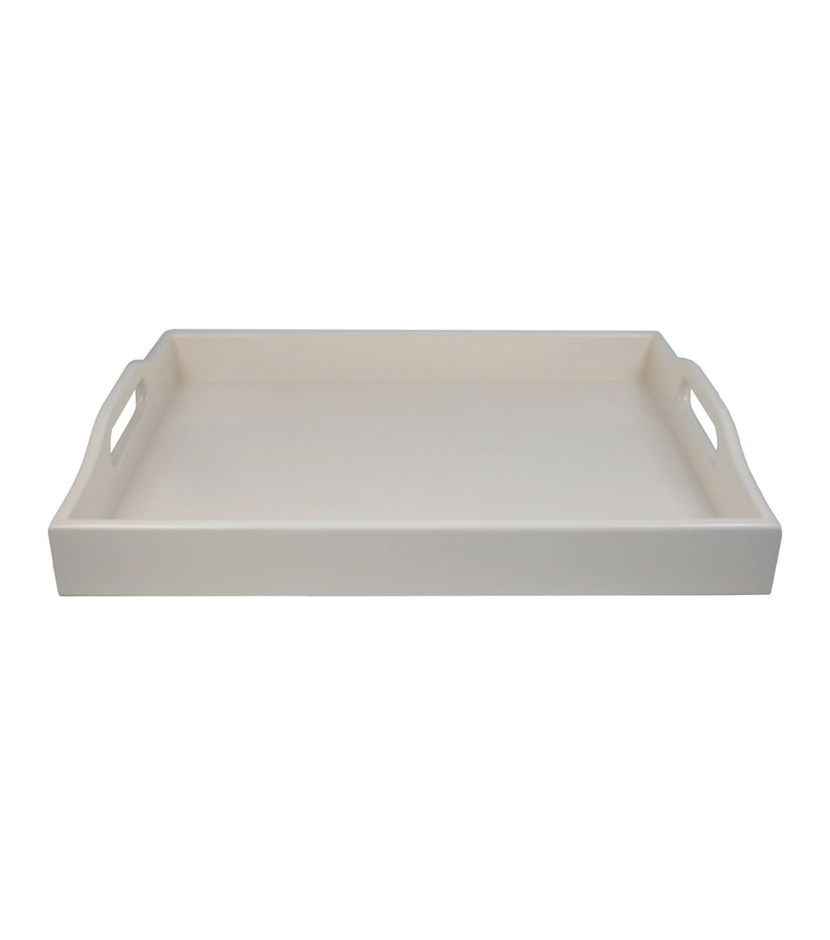 Decorative Tray Magnificent Hudson 43™ Laquered Decorative Traywhite  Decorative Trays And Trays Decorating Inspiration