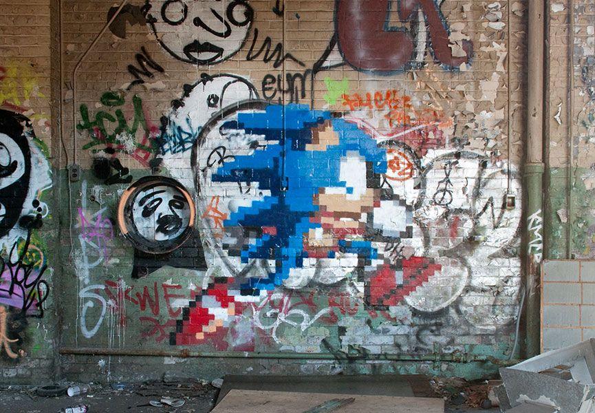 The Fastest Hedgehog Alive Sonic Art Graffiti Street Art