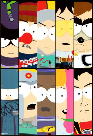 South Park Superheroes Print Allposters Com In 2020 South Park Funny South Park Characters South Park Anime