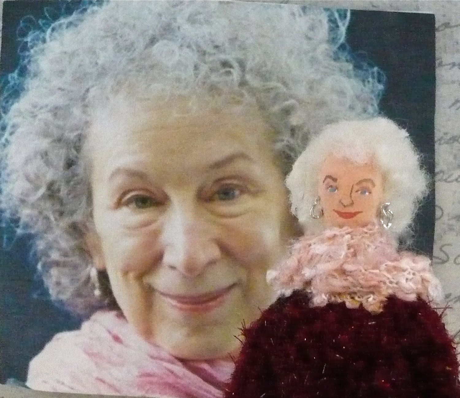 Margaret Atwood Doll Canadian Writer and Author in Miniature. $38.00, via Etsy.