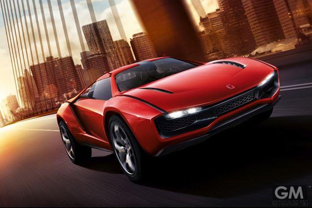 文字通りクール!赤く美しく輝くスーパーカー