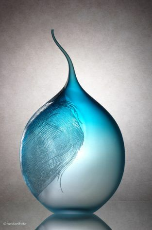 June Pham: Unravelling, Engraved blown glass. 2011.