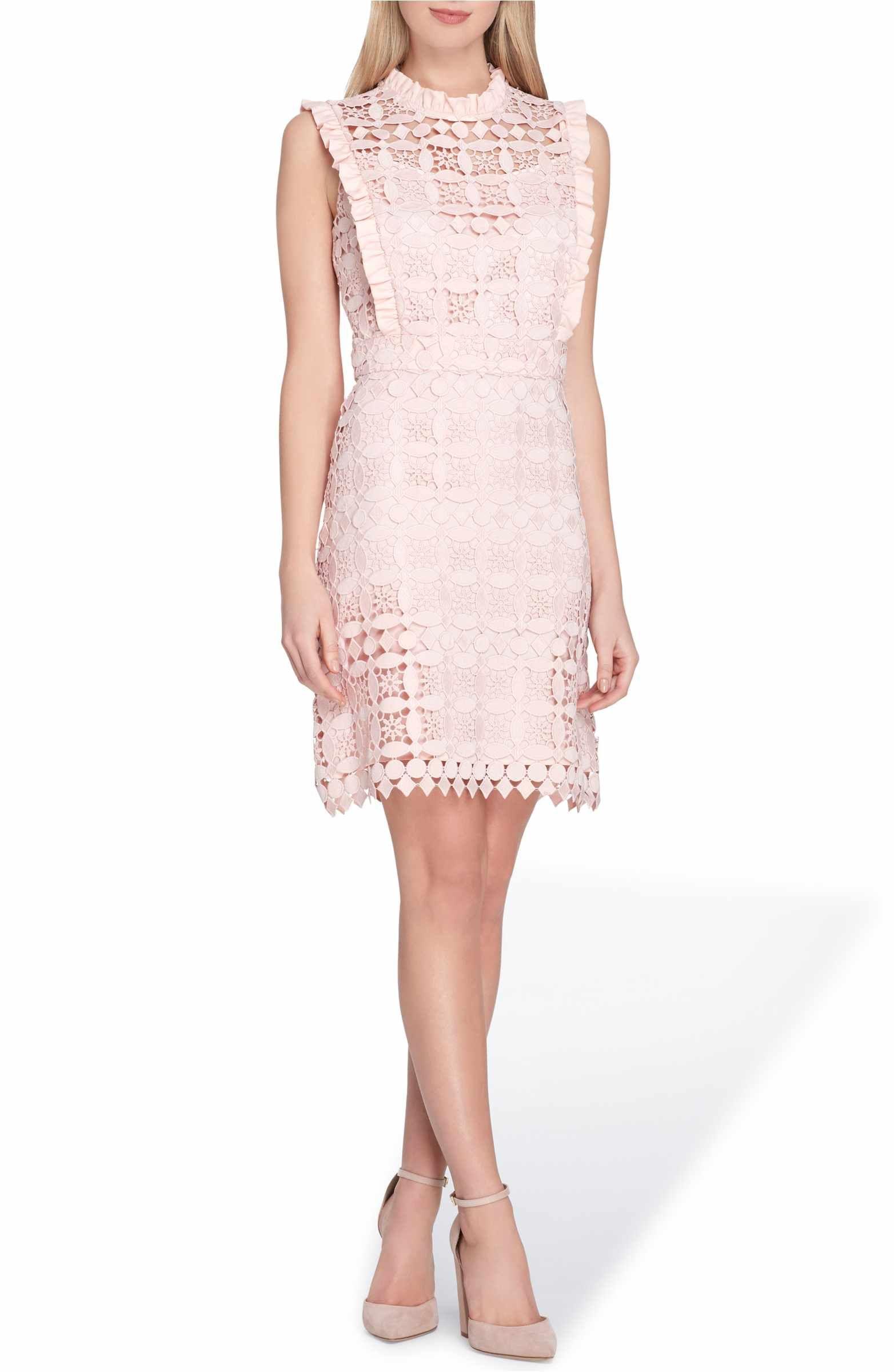 Tahari High Neck Lace Sheath Dress Nordstrom Lace Sheath Dress Dresses Lace Dress [ 2400 x 1564 Pixel ]