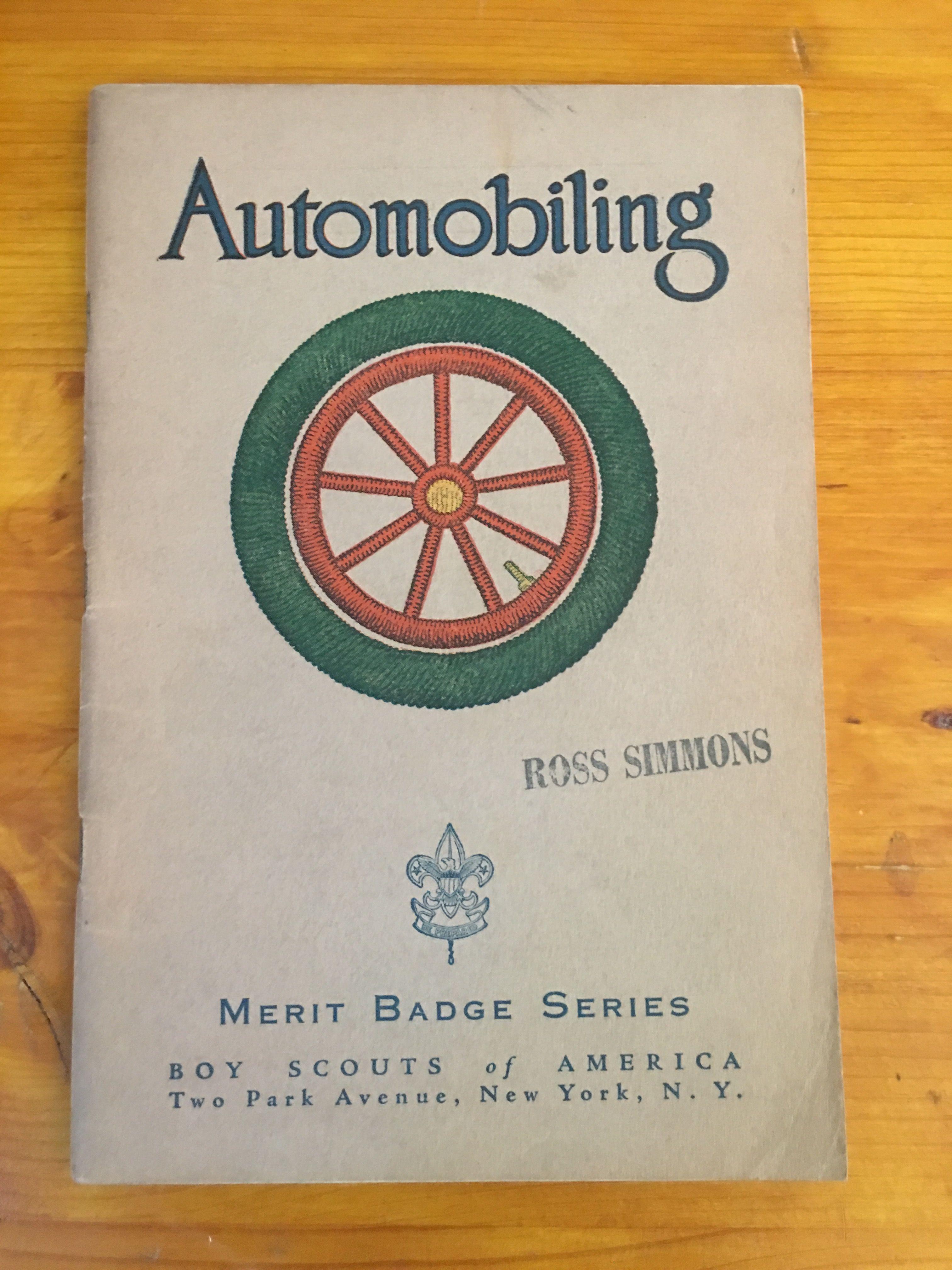 Automobiling Merit Badge Book