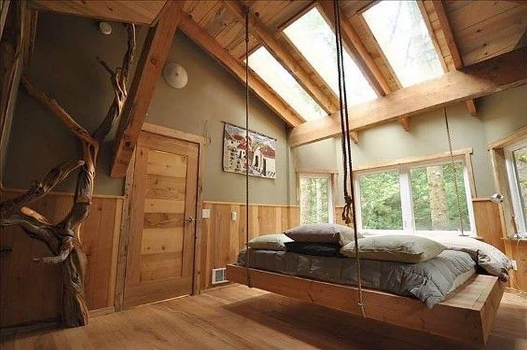 Interior Tips How To Introduce Grey Into The Bedroom Home Hanging Bed House