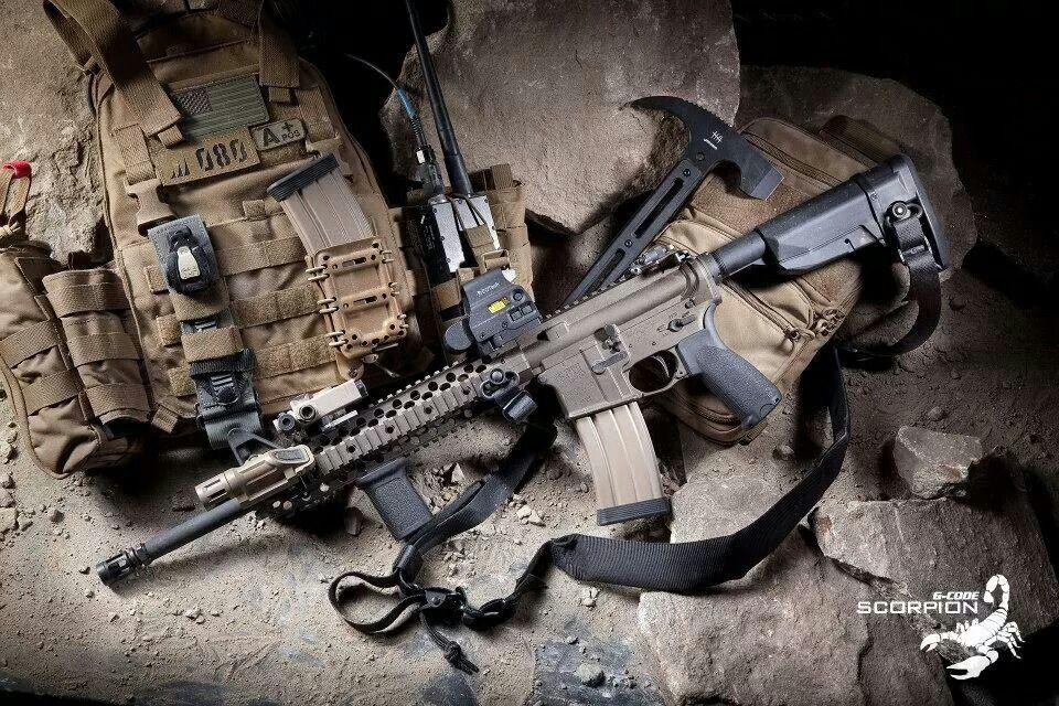 Guns and pack