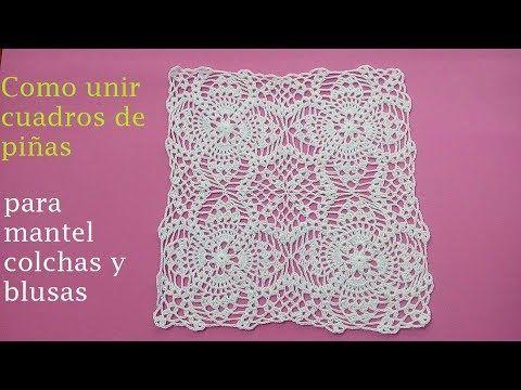 Como unir cuadros de piñas   Patrones y puntos de crochet ...
