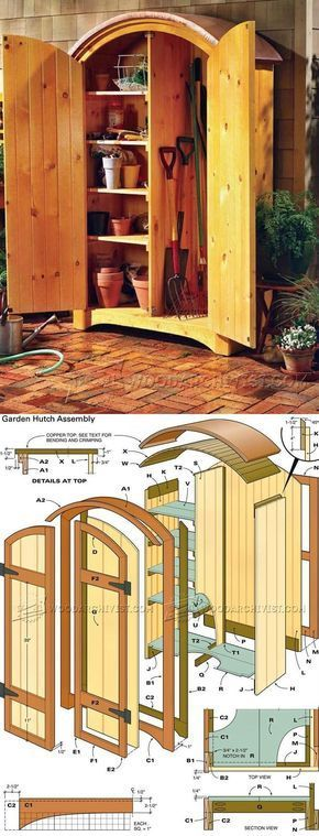 Pine Garden Hutch Plans   Outdoor Plans And Projects | WoodArchivist.com