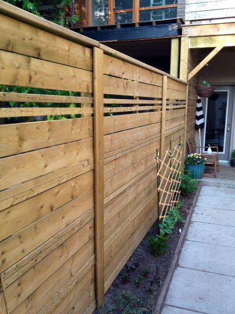 Building A Fence Building A Fence Horizontal Fence Fence Design