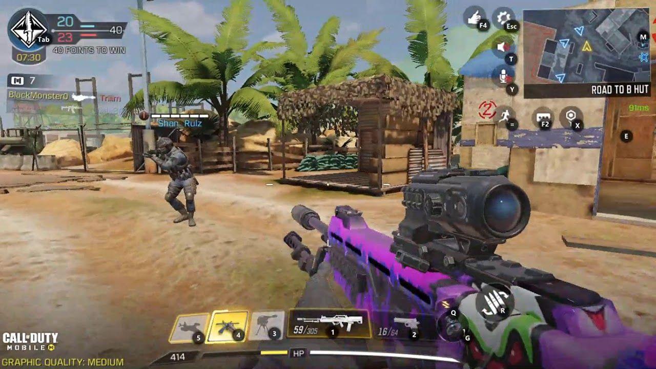 Call Of Duty Mobile Team Deathmatch Firing Range Cod Mobile