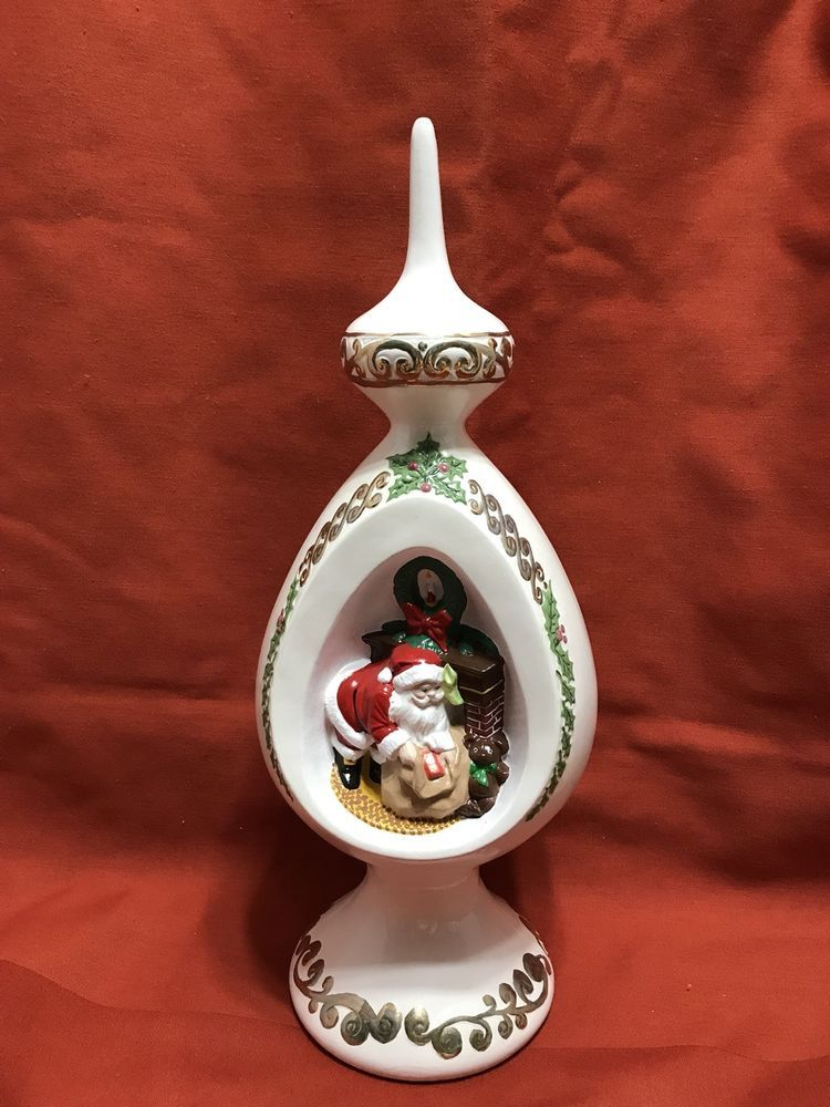 VINTAGE BYRON MOLD CERAMIC FINIAL CHRISTMAS TREE TOPPER 1977