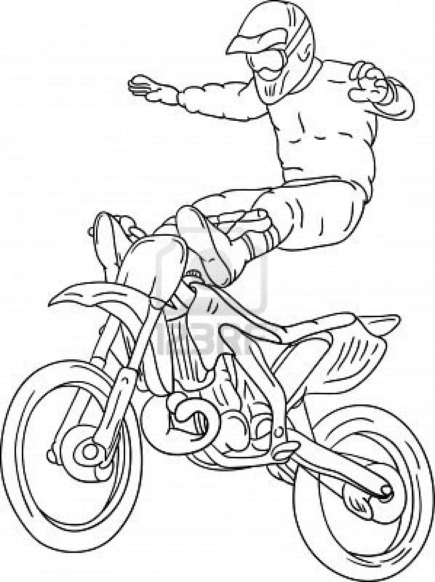 Motocross Freestyle Coloring Pages This is absolutely cool | Free ...