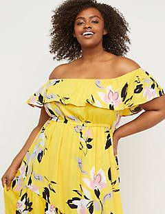 9f7be242f3ec Lane Bryant Off-the-Shoulder Ruffle Maxi Dress in 2019 | Spring ...