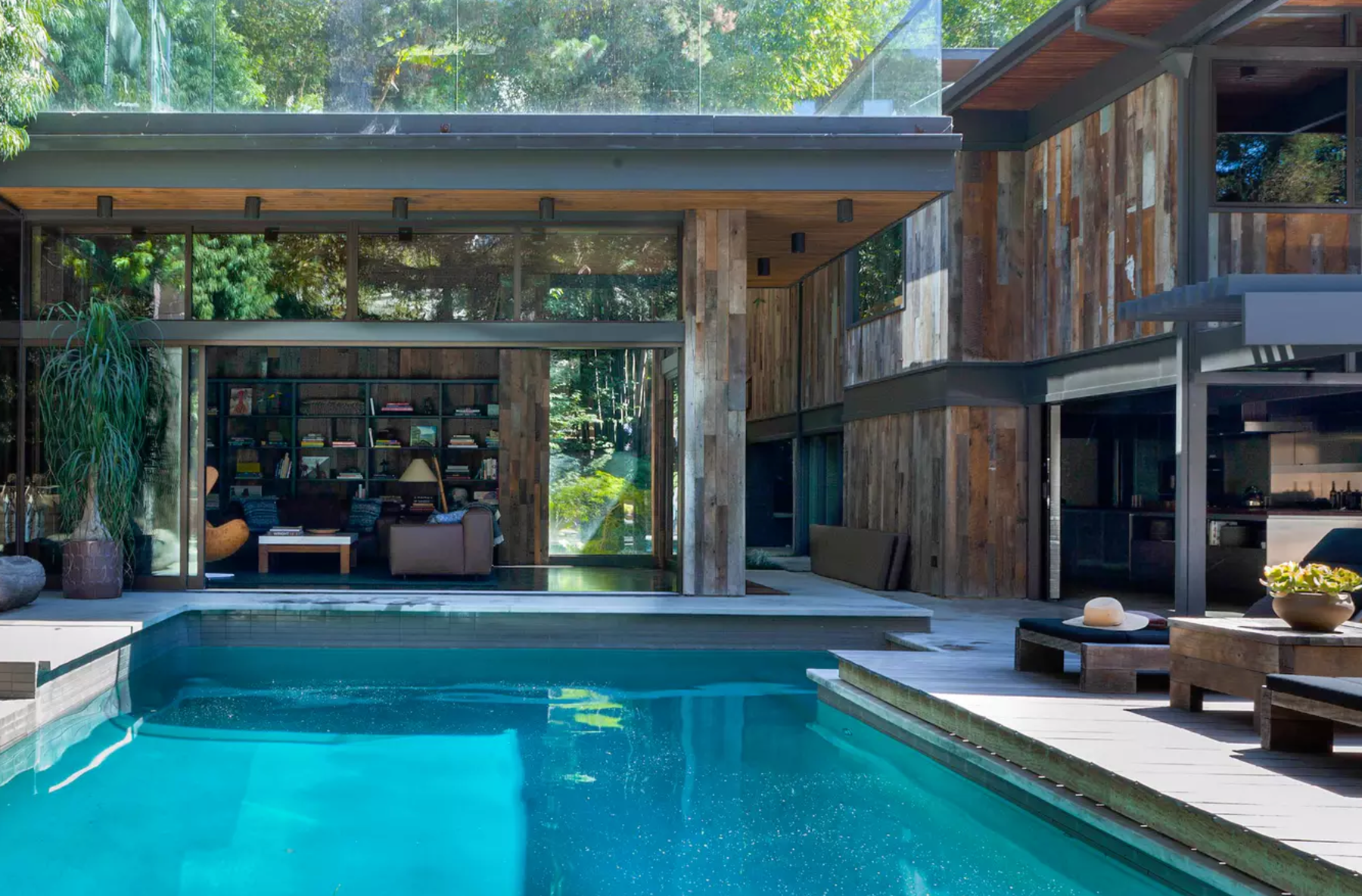 Inside Hollywood Hills Coolest Home Pool Party Central