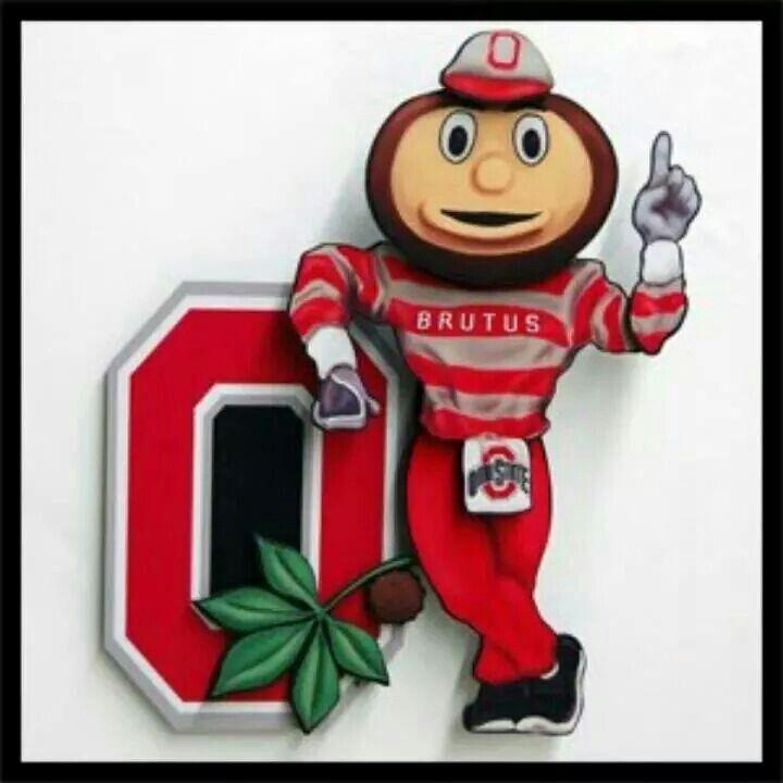 Go bucks ohio state buckeyes football brutus buckeye