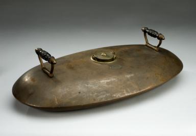 Oval Copper Bed Warmer England 1881 1910 Bettflasche