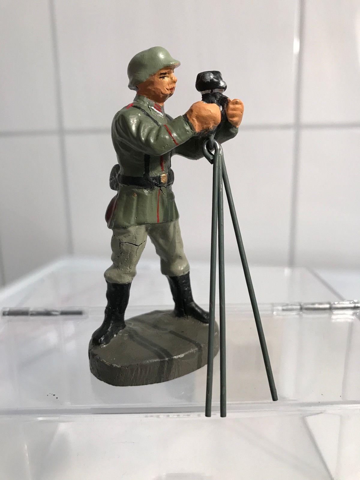 Elastolin 7cm Serie Massefigur Soldat mit Richtkreis Militär WW Nr.141 | eBay