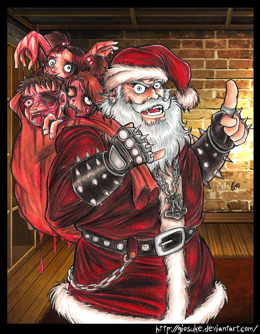 Father Christmas Ringing Xmas Bells Santa Mens T-Shirt