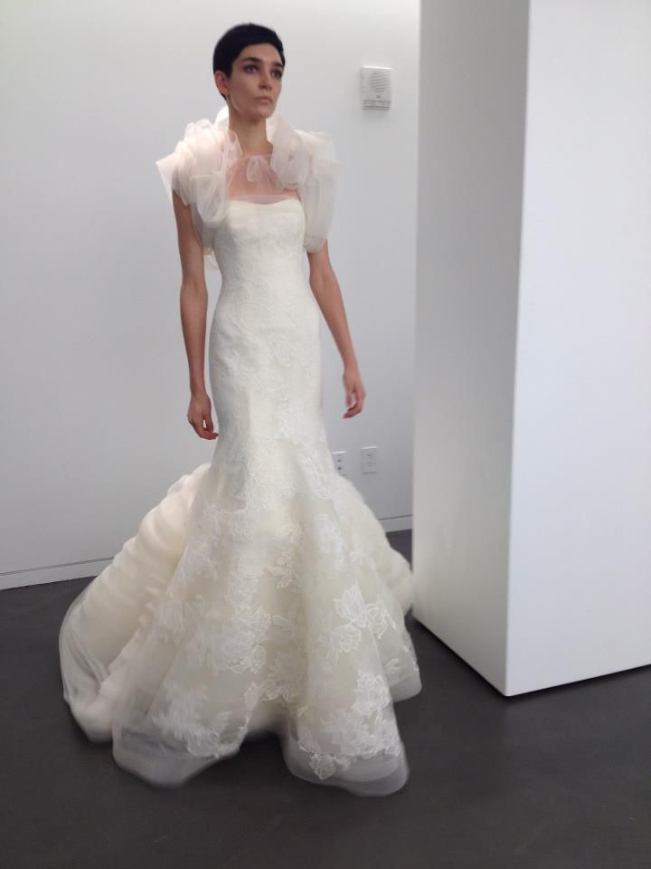 Feather Wedding Dress Vera Wang