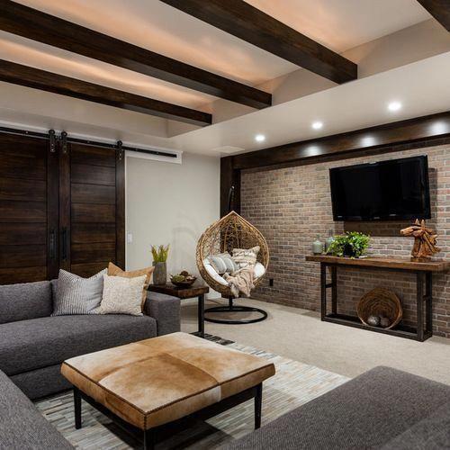 Home Design Basement Ideas: Beyond Perfect Rustic Basements # Basements