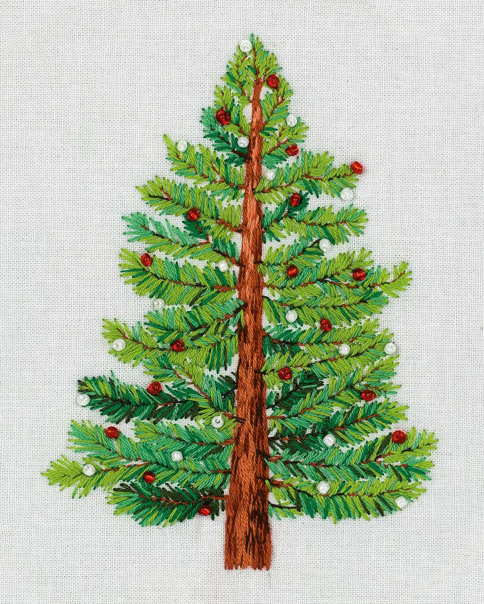 Cross Stitch Embroidery Kits Panna Living Picture Jk 2190 Christmas Tree Embroidery Kits Panna In 2020 Embroidery Kits Embroidery Stitches Satin Stitch