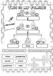 My Family Worksheet | Family | Family worksheet, Worksheets, Family ...