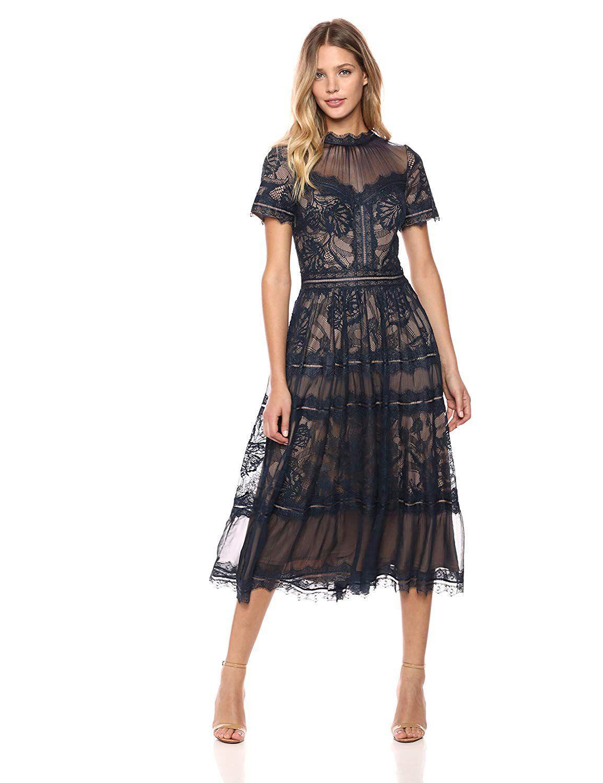 10 Beautiful Tea Length Dresses For Mother Of The Bride Tea Length Dresses Lace Midi Dress Dresses Australia [ 1500 x 1154 Pixel ]