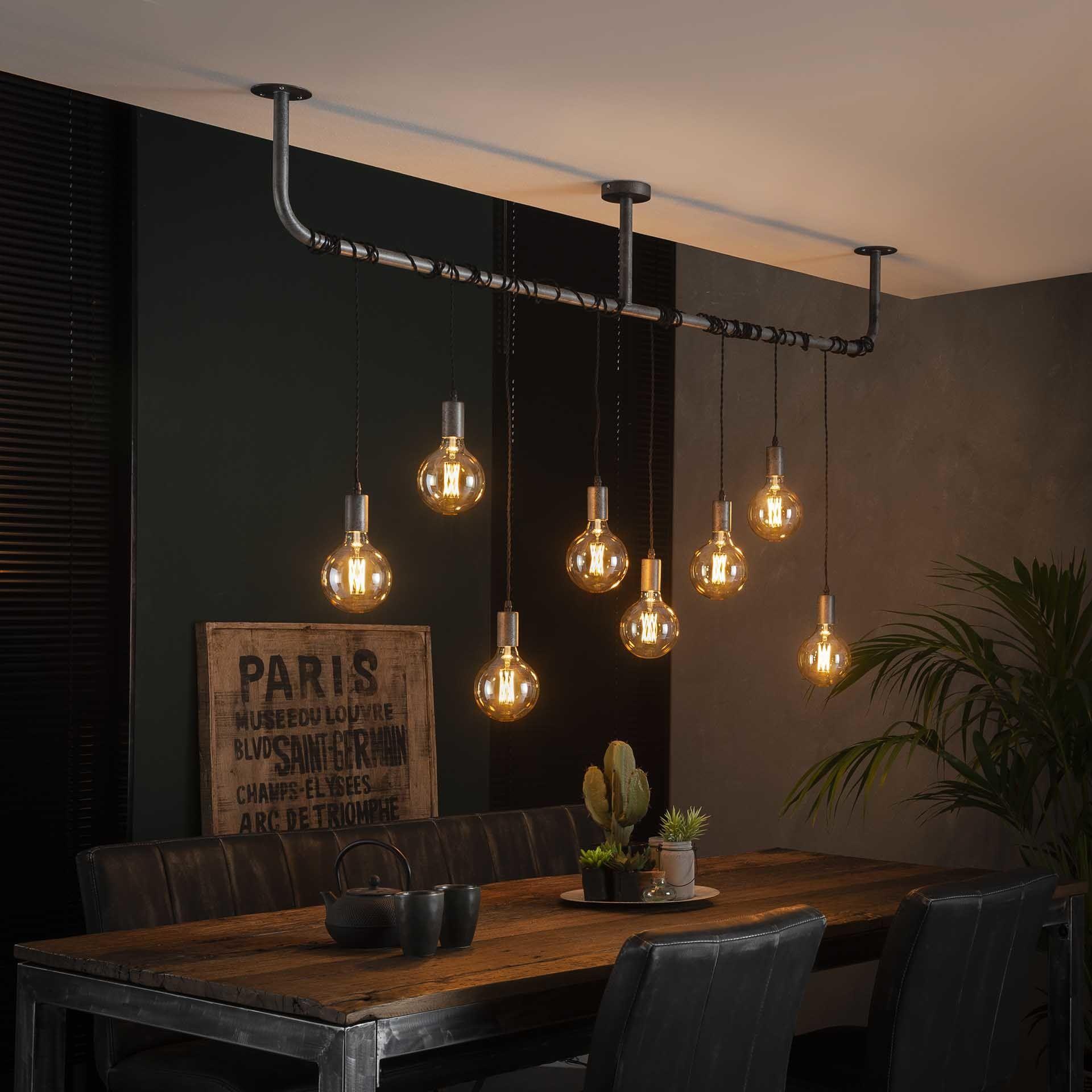 Industriele Hanglamp Glenn 8 Lichts Eetkamer Lamp Design Industriele Hanglampen Tafel Hanglamp