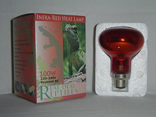 Reptile And Poultry 100w Infrared Heat Lamp Bulb Bayonet Fitting Brooding Basking Spot Light Heat Lamps Heat Lamp Bulbs Bulb